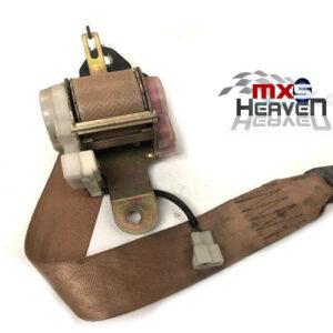 Mazda MX5 MK1 1.6 Seat Belt Assembly Tan Tensioner