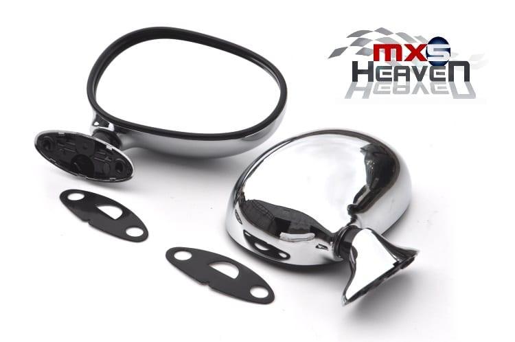 Mazda MX5 MK1 Door Mirrors Manual Chrome Pair