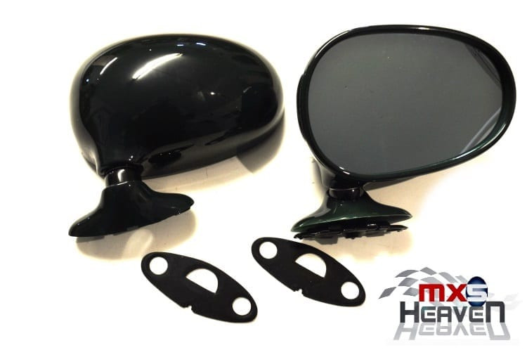 Mazda MX5 MK1 Door Mirrors Manual British Racing Green HU Pair