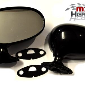 Mazda MX5 MK1 Door Mirrors Manual Black PZ Pair