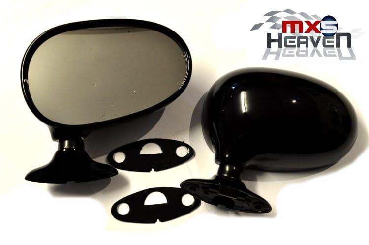 Mazda MX5 MK1 Door Mirrors Manual Black PZ Pair