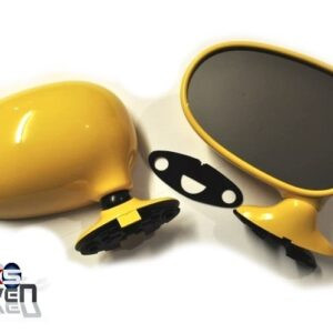 Mazda MX5 MK1 Door Mirrors Manual Yellow HZ Pair Eunos Roadster