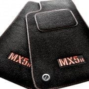 Tailored Footwell Mats with Kick Pad - Red Stitching *New*