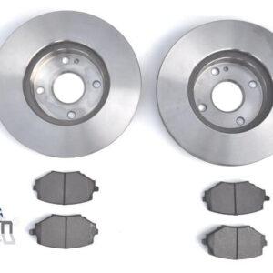 Mazda MX5 MK1 1.8 MK2 255mm Brake Discs Pads Front