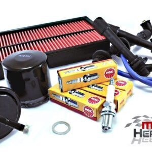 Mazda MX5 MK1 Service Kit Oil Air Fuel Filters NGK Spark Plugs Blue HT Leads