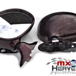 Mazda MX5 MK1 Manual Door Mirror Set Merlot Vin Rouge A1Q
