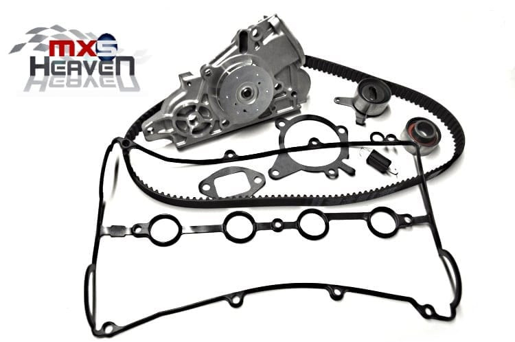 mazda mx5 mk2 1 8 timing belt kit  4 pc   water pump  u0026 cam cover gasket  new