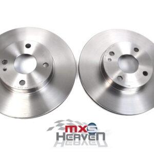 Mazda MX5 MK1 1.8 MK2 Front Brake Discs Pair Eunos Roadster