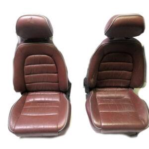 Mazda MX5 MK1 Red Leather detachable headrest seats